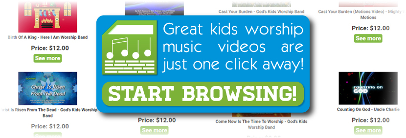 Great kids worship music videos are just one click away