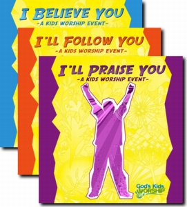 Modern CD 3 - pack from God's Kids Worship: I Believe You, I'll Follow You and I'll Praise You