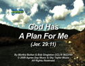 God Has A Plan For Me (Jer. 29:11) by God's Kids Worship Band