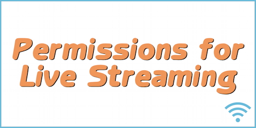 Streaming Videos for Worship - Permission information from God's Kids Worship